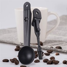Camping Coffee Scoop Camping Creative 2 In 1 Coffee Spoon With Coffee Machine Hiking Cleaning Brush Outdoor Tableware Spoon(China)