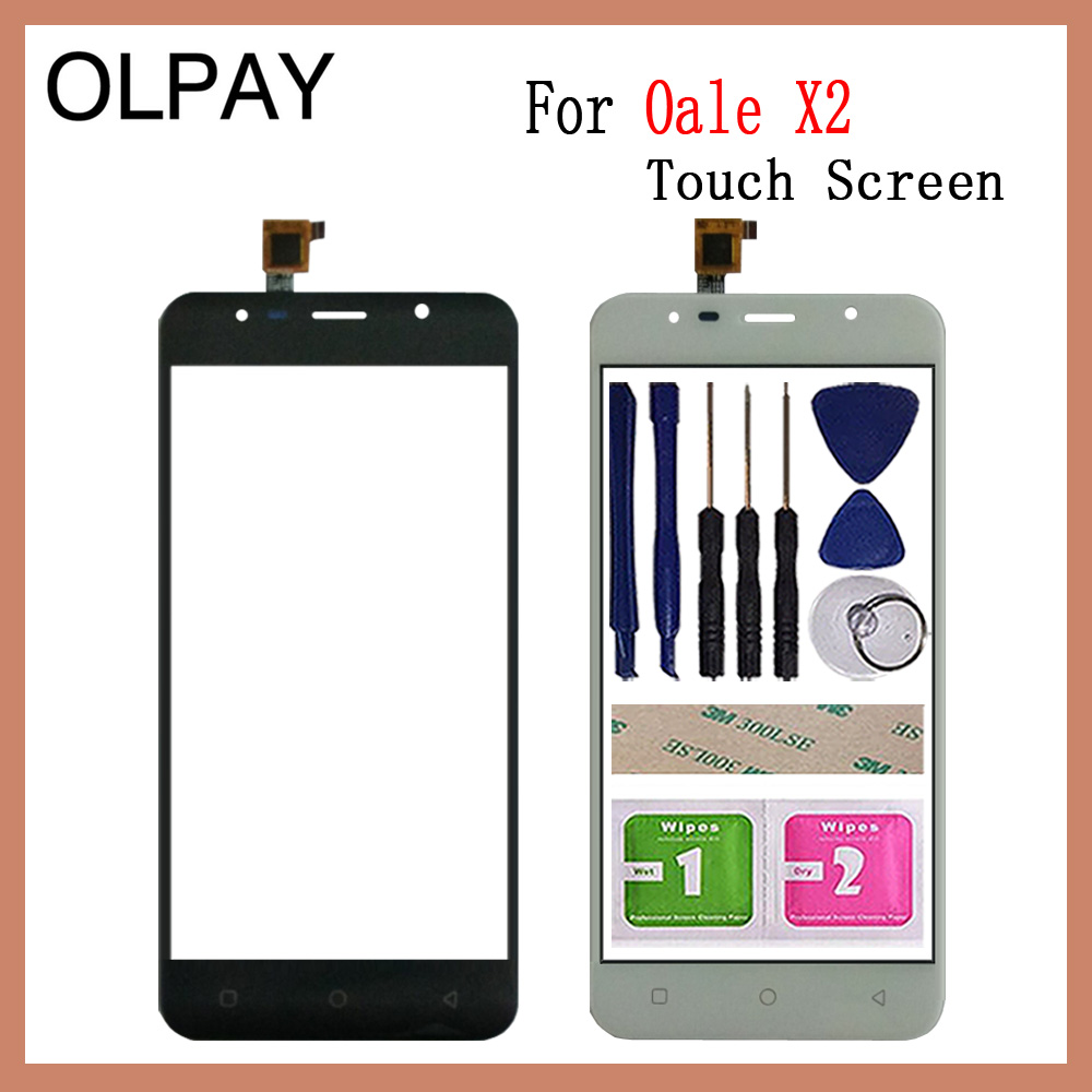 OLPAY 5.5'' Mobile Phone Touchscreen For Oale X2 Touch Screen Glass Digitizer Panel Lens Sensor Glass Free Adhesive+Wipes