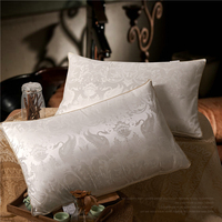 Goose Down Pillows for Sleeping Bed Pillows 100% Breathable Tencel like silk Skin Friendly Soft, Standard Size Pillowcase Insert