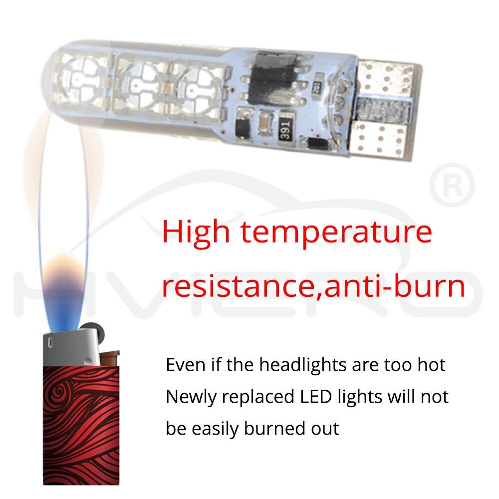 Купить с кэшбэком 2X T10 Silica Gel RGB w5w LED with Remote Controller RGBW 501 194 168 6SMD 5050 Strobe Auto Wedge Side Light DC 12V Auto Bulbs