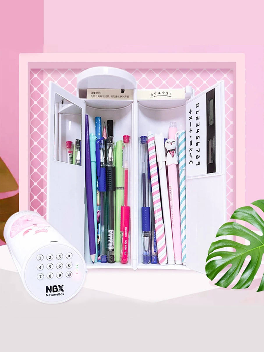 Pencil-Boxs Stationery Calculator School-Supplies Office Multifunctional Kids Password
