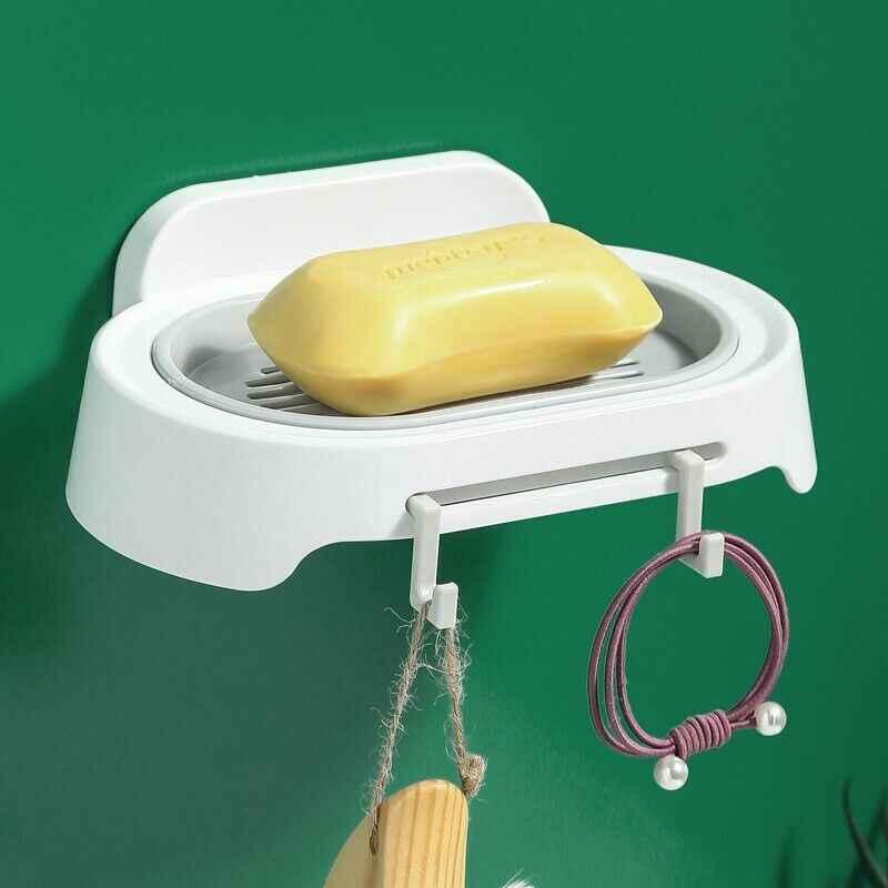Starken Sog Kunststoff wand mit Starken Vakuum Saugnapf Seife Dish Halter Haushalt Regal Rack