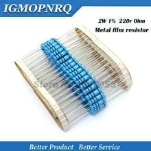 20 шт. высокое качество 2 Вт металлическая пленка переменный резистор 1% 2W-220R 220 Ом 220R