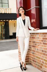 Womens long-sleeved Three piece suit Big size suits  professional V-neck loose overalls Including shirts fashion in 2019