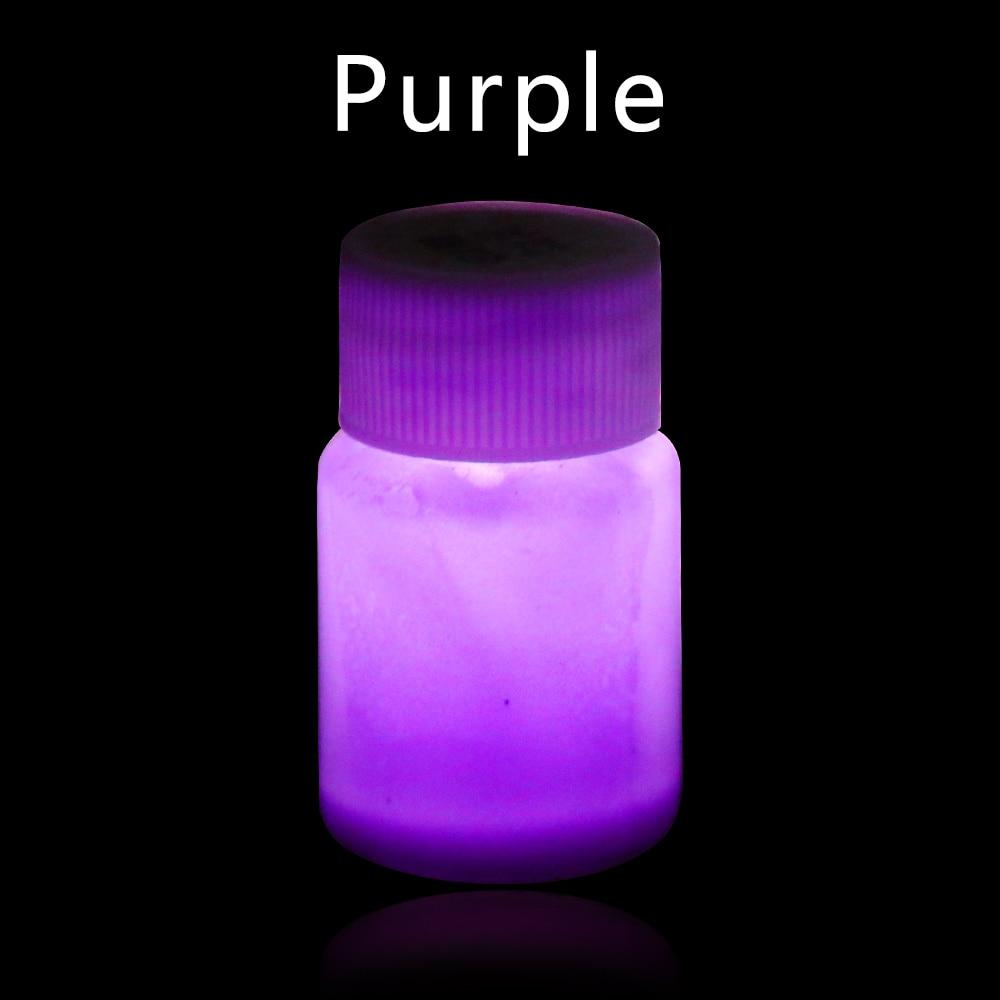 20g Purple Luminous Paint Glow In The Dark Fluorescent Paint For Party Nail Decoration Art Supplies Phosphor Paint Acrylic Paint