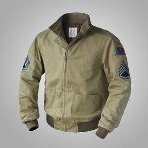 Image 1 - جاكيت جيب M41 بتصميم متماثل من FURY مصنوع من الصوف العتيق طراز WW2 معطف عسكري للرجال لخريف/ربيع الجيش ملابس خارجية من مقاس 36 44 #