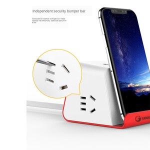 Image 3 - רב מפצל חשמל חכם עם טלפון אלחוטי מטען 3 USB טעינה 2 AC לשקע שולחן העבודה שקע מתג שולחנות 1.5M כבל AU Plug