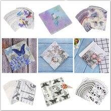 Rose Paper-Napkins Decoupage Plates Party-Decoration Servilleta Printed for Event