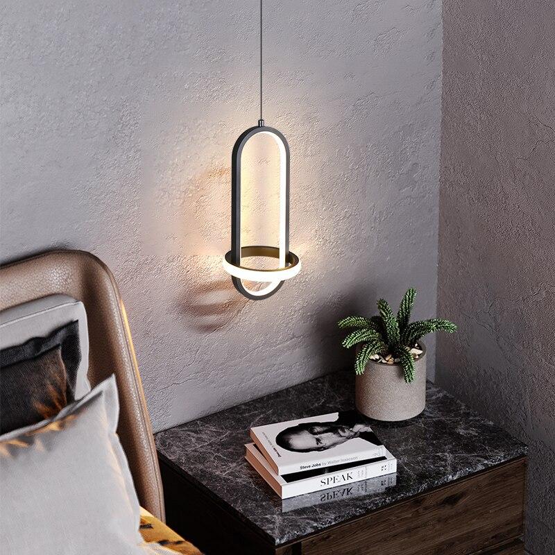 Современная светодиодная Подвесная лампа для спальни, прикроватного столика, ресторана, бара, креативное минималистичное домашнее украшен...