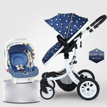 Chinoiserie baby carrier high landscape foldable 3 in 1baby stroller 2019 new baby car portable fashion four wheel baby stroller