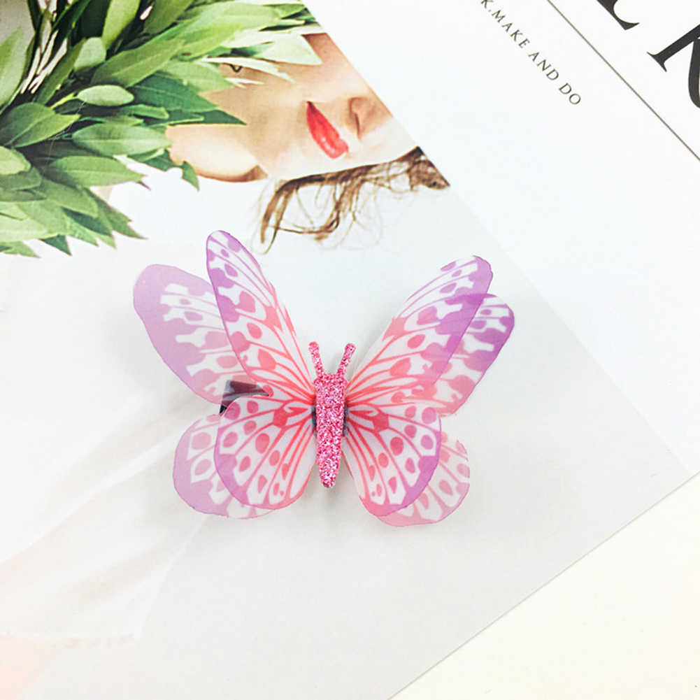 1 Buah/Bungkus Gadis Warna-warni Yang Indah Simulasi Butterfly Rambut Klip Manis Hiasan Rambut Bando Jepit Rambut Anak-anak Rambut Aksesoris