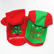 Christmas Dog Clothes Red Coat Pattern Pet Tree Winter Cute Autumn