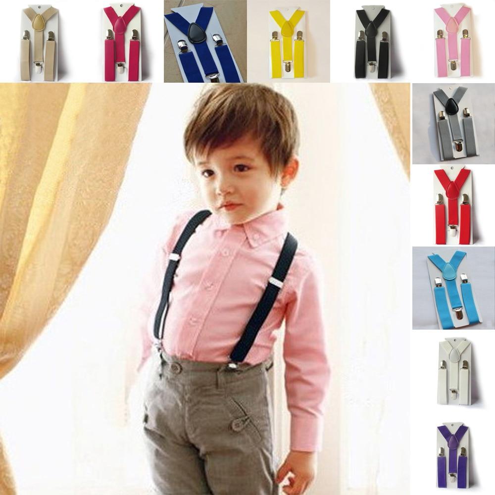 Cute Baby Boys Girl Clip On Suspender Y Back Child Elastic Suspenders Braces