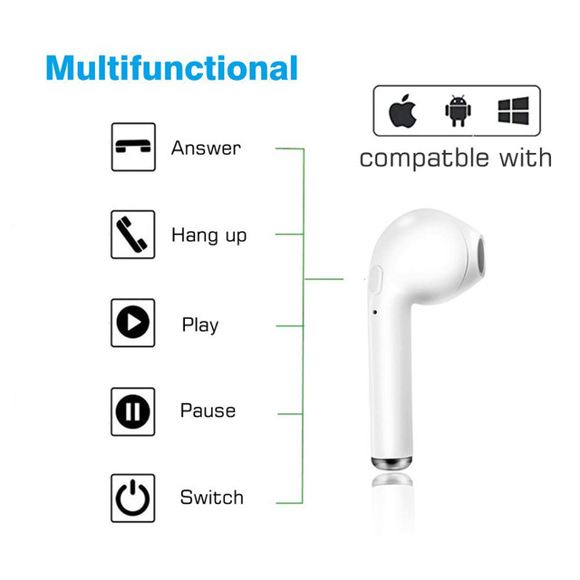 I7s TWS Wireless Earbuds Bluetooth 5.0 Headphones Sport Earbuds Headset With Mic For smartphone Xiaomi Samsung Huawei LG 6