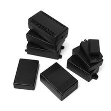 Plastikowy wodoodporny czarny DIY obudowa obudowa oprzyrządowania plastikowe elektroniczne pudełko projektowe materiały elektryczne wysokiej jakości obudowa