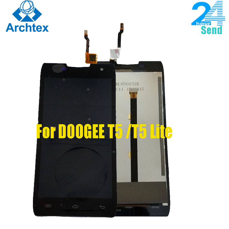 """100% Original DOOGEE T5 T5 Lite  LCD Display + Touch Screen Digitizer Assembly Panel Digital Replacemen Tools 5.0"""" T5S 1280x720P"""
