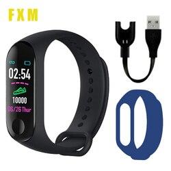 Movimento relógio digital freqüência cardíaca pressão arterial saúde à prova dwaterproof água relógio inteligente m3 pro bluetooth pulseira de fitness rastreador