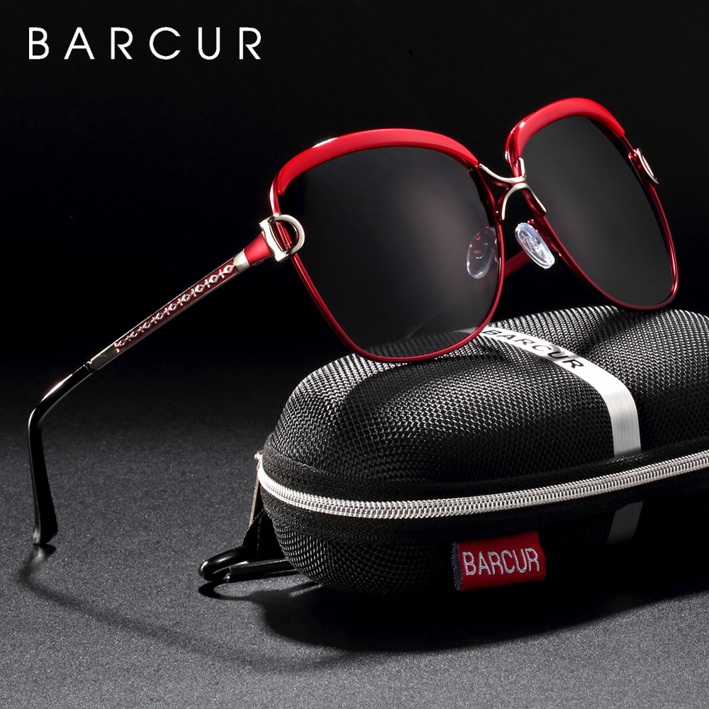 BARCUR Polarized Ladies Sunglasses Women Gradient Lens Women Sun glasses Luxury Brand oculos feminino lentes de sol mujer