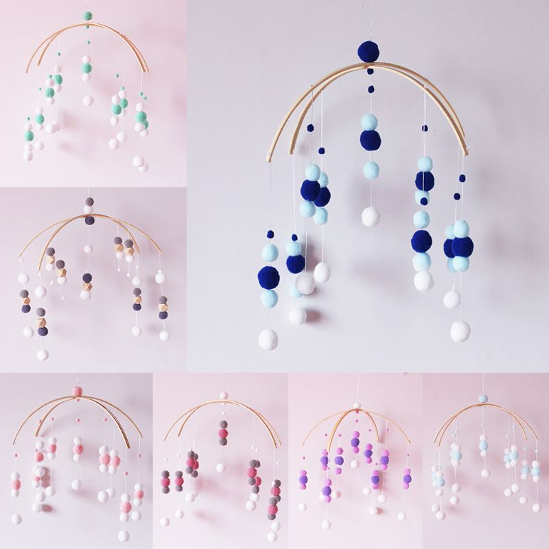 Baby Mobile погремушки Wooden Toys Hanging Toys Baby Rattles Wind Chimes Bell Bedroom Tent Decor Photography Props Gifts