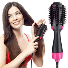 2 in1 Multifunctional Hair Dryer&Hair Straightener Curler Comb Electric Hot Styler Brush Styling Rotating Rollers