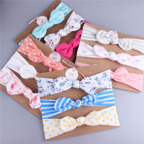 3pcs/Set Newborn Headband Ribbon Elastic Baby Headdress Kids Hair Band Girls Bow Fashion Accessories