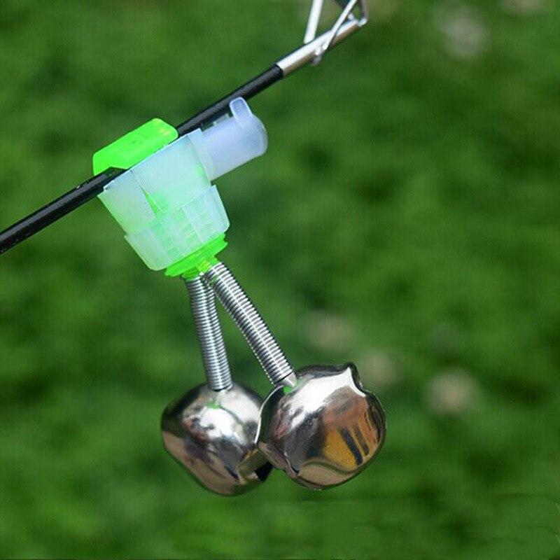 5Pcs Fishing Bell Bite Alarms Fishing Rod Clamp Tip Clip Bells Ring Carp Fishing Accessories Tackle Fish Alarm