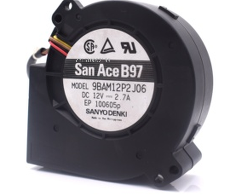 Free Shipping 12V 2.7A FOR HP Servers Large Amount Of Wind Turbine Exhaust Fan 9BAM12P2J06