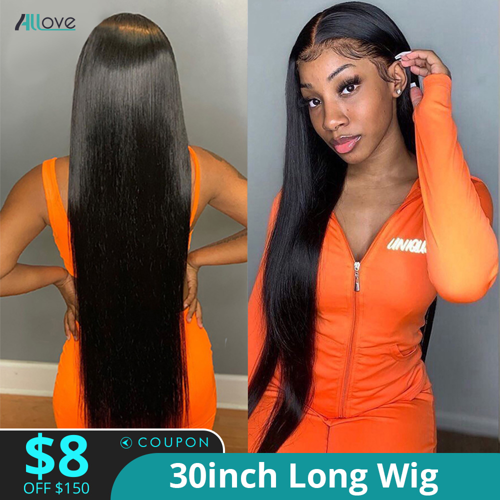 Allove Bone Straight Lace Front Human Hair Wig 3