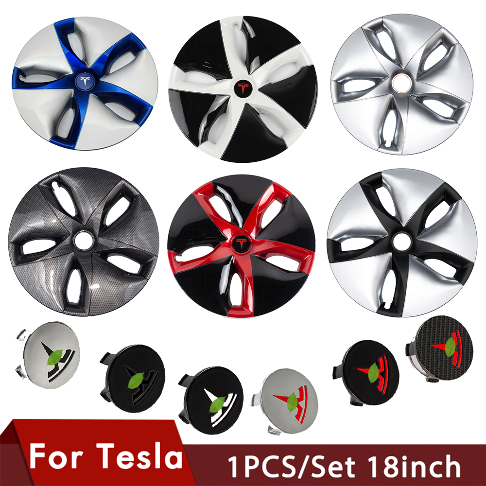 1PCS For Tesla Model 3 Wheel Cap 18-inch Automobile Hubcap Wheel Cover Model3 Accessories Hub Cover For Tesla Three 2017 - 2020