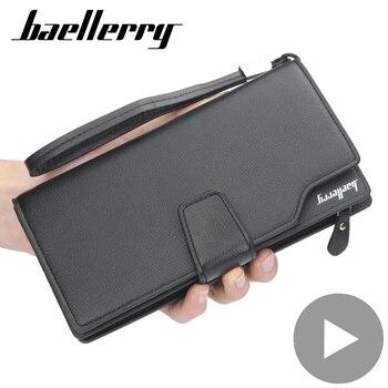 цена на Phone Money Clutch Bag Zipper Long Big Credit Card Coin Holder for Men Wallet Male Purse Partmone Walet Vallet Coughs Portofele