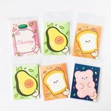 Stationery Memo-Pad Avocado Office 30-Sheets School Bear Cute Strawberry Student Toast