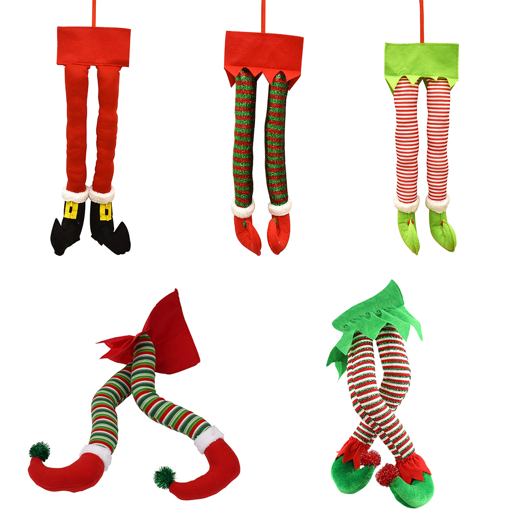 Рождественские плюшевые ножки с ботинками, Рождественская елка, декоративное украшение, Рождественское украшение, домашние украшения