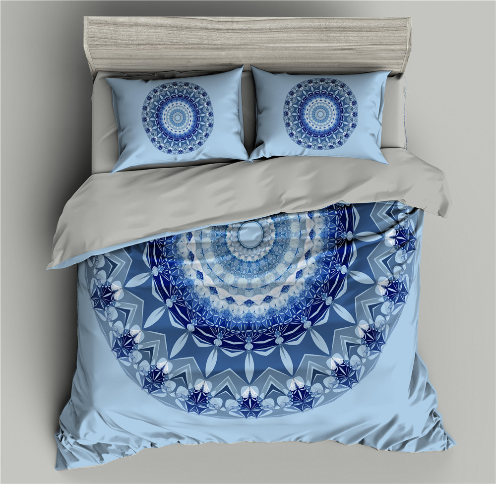 Geometric Floral Pattern 3D Bedding Set Duvet Cover Bed Comforter Sets Quilt Covers Sets Single/Twin/Full/Queen/King/Double Size