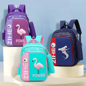 Image 5 - 2020 neue 3D Flamingo Schule Taschen Für Mädchen Jungen Cartoon Shark Rucksack Kinder Orthopädische Rucksäcke mochila escolar Grade 3 5