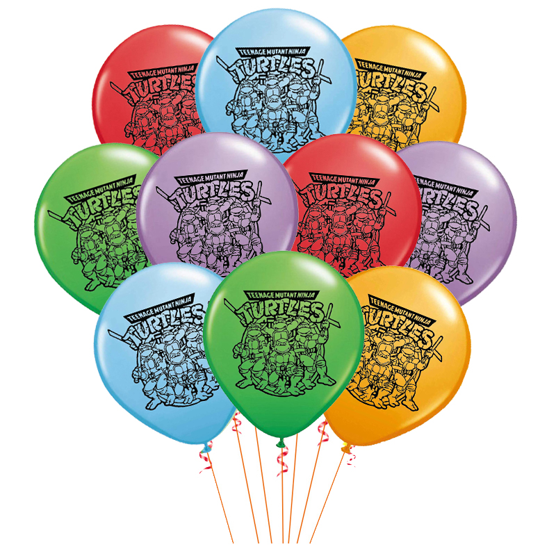 Зеленого цвета с принтом «Черепашки-ниндзя» латексные шары Hero воздушные шары в форме животных Happy ко дню рождения, баннер Baby Shower вечерние декор для маленьких мальчиков Дети пользу игрушки ребенка Globos-2