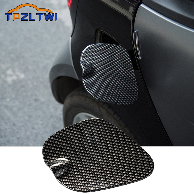 Carbon Fiber Car Fuel Tank Cap Decorative Shell Sticker Cover Decals For Mercedes Smart 453 Fortwo Car Styling Accessories
