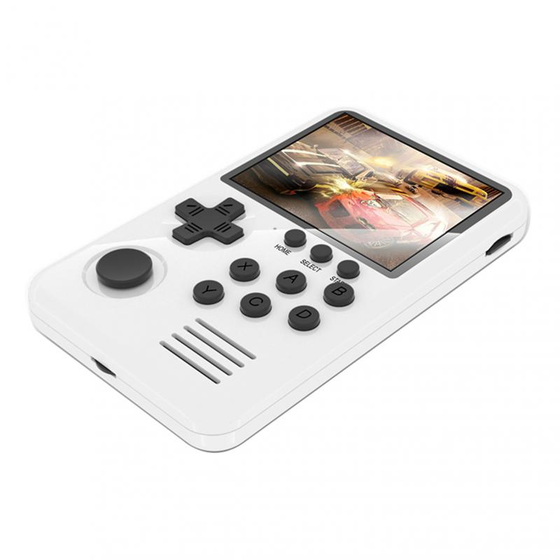 Games 16 Bit Retro Game Console Handheld Game with TFCard for Kids Gift White Facibom M3S Video Game Console Built-in 1500