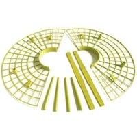 10 יח'\סט צמח פלסטיק כלי תות גדל מעגל תמיכה מתלה חקלאות מסגרת גינון גפן-במחזיקים ותומכים לצמחים מתוך בית וגן באתר