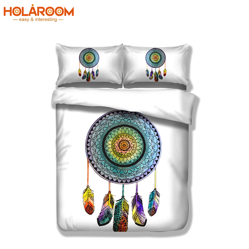 3PCS Bohemian Style Bedding Set Geometric Pattern 3d Printing Bed Linen Design Queen Size Include Duvet Cover With Pillowcase