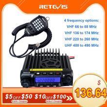 Retevis RT 9000D transceptor de Radio del coche VHF 66 88MHz (o UHF) 60W 200CH, Walkie Talkie codificador + Micrófono de altavoz + Cable de programa