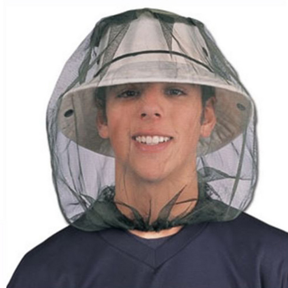 Outdoor Survival Anti Mosquito Headgear Mesh Hat Head Face Protector To Avoid Bug Bee Insect Outdoor Headgear Camping Equipment 1