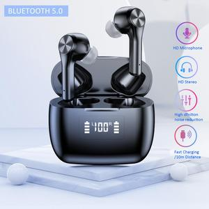 Image 2 - T9 TWS Wireless headphone bluetooth 5.0 Earphone Waterproof Sport Stereo HIFI Earbuds LED Power Display Gaming Headset PK f9 tws