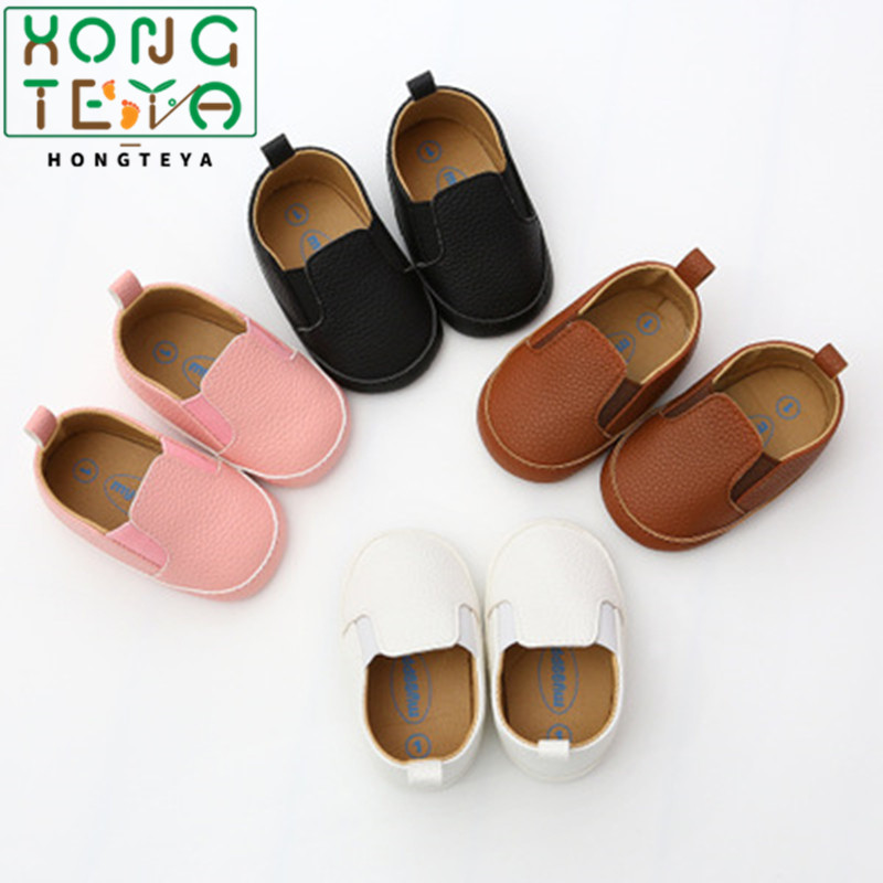 2020 Newborn Baby Boy Girl Shoes First Walkers Baby Moccasin Shoes Soft Sole PU Leather Prewalkers For Kids Crib Shoes