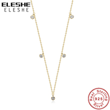 Chain Necklace Trendy Jewelry Crystal Gold-Plated Sparkling 925-Sterling-Silver Women