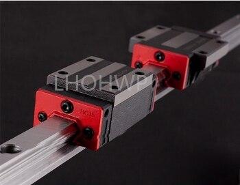 2 linear guide HGR20 1500mm/1550mm + 4 slider bracket HGH20CA / flange HGW20CC CNC engraving machine engraving