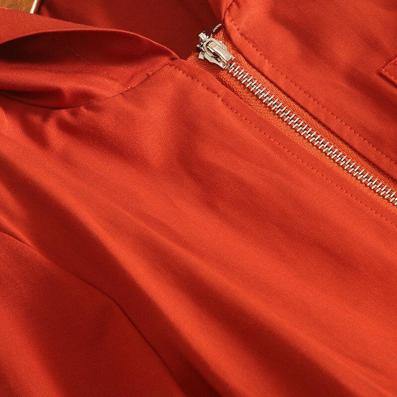 Размера плюс Для женщин плащ Тренч; Новинка; Верхняя одежда с капюшоном и с длинным рукавом Slim Fit ветровка модные тенденции осень зима 2019 - 4