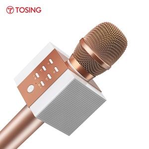 Image 1 - מקצועי Bluetooth אלחוטי מיקרופון קריוקי מיקרופון רמקול כף יד מוסיקה נגן מיקרופון שירה מקליט KTV מיקרופון
