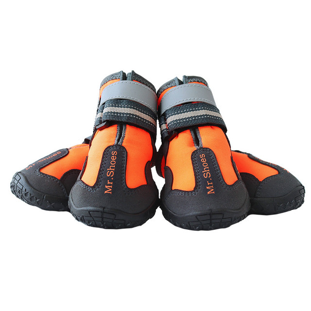 Waterproof Black Dog Shoes For Large Dogs Anti-slip Shoes Hiking Dog Clothing & Shoes For Yorkshir Orange Winter Shoes For Dogs 1