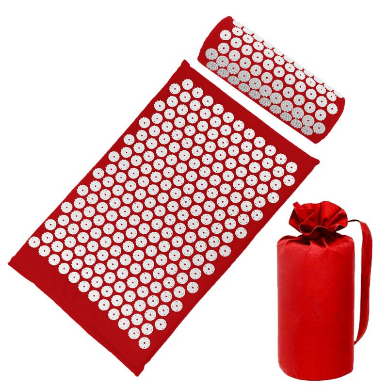 Acupressure Massage Mat with Pillow set to body Relaxation to Release Stress and Tension 44