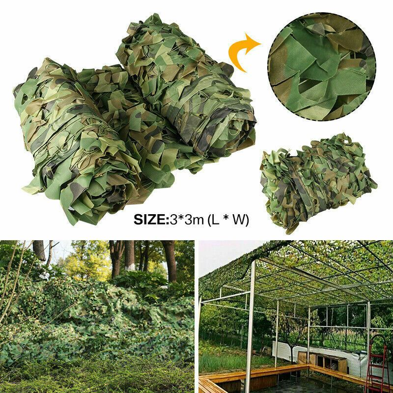 High-quality Woodland Camouflage Camo Army Net Hide Netting Camping Military Hunting Shelter